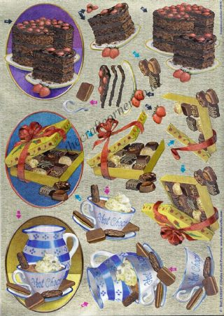 Chocolate Lovers 3d Decoupage Sheet From Dufex